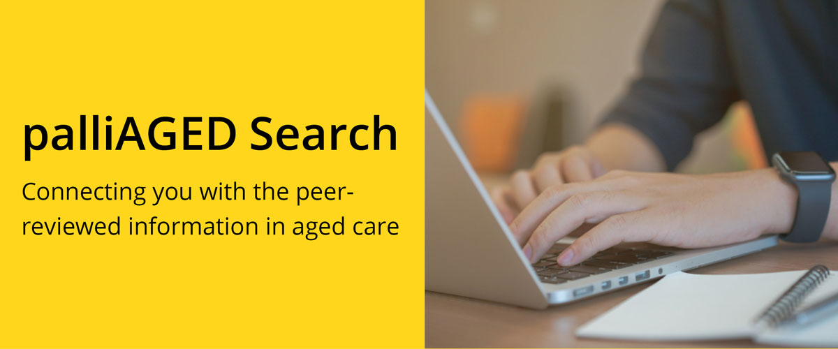 New resource: palliAGED Search resources
