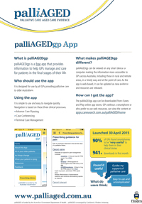 palliAGEDgp App factsheet