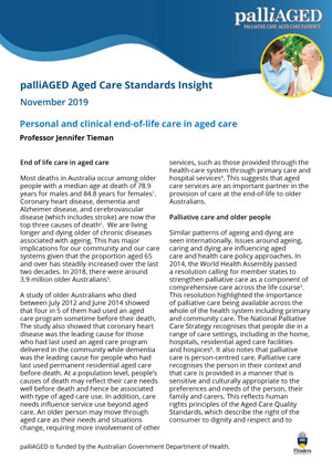 palliAGED Aged Care Standards Insight thumbnail