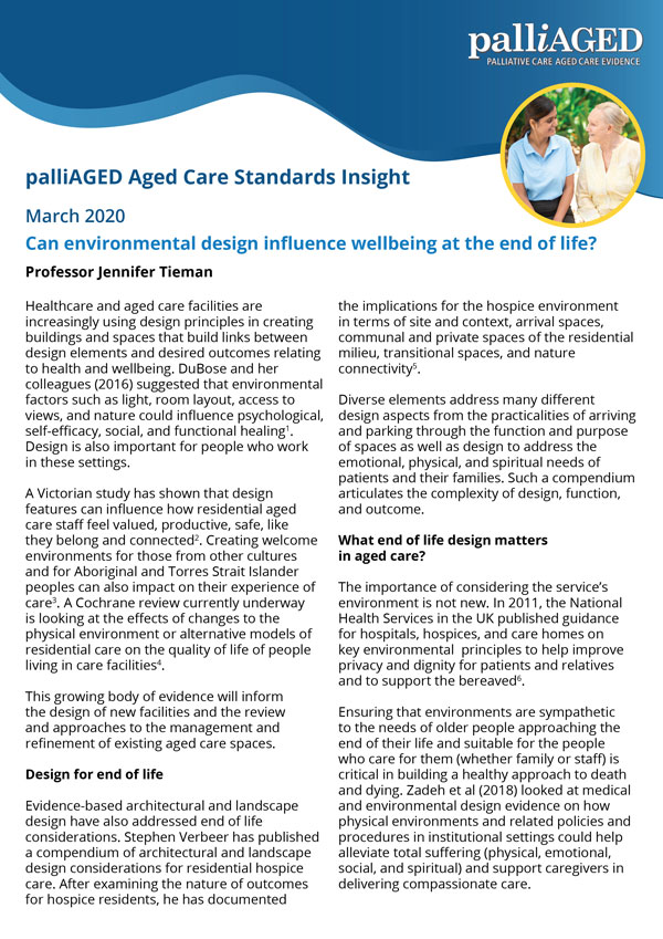 Thumbnail of palliAGED Aged Care Standards Insight pdf